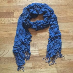 Roxy Teal Ruched Scarf
